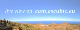 Webcam La Palma onder Puntagorda in zuidwestelijke richting.